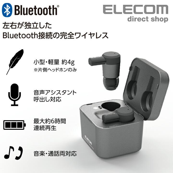 Bluetooth(R)完全ワイヤレスステレオヘッドホン:LBT-TWS03BK