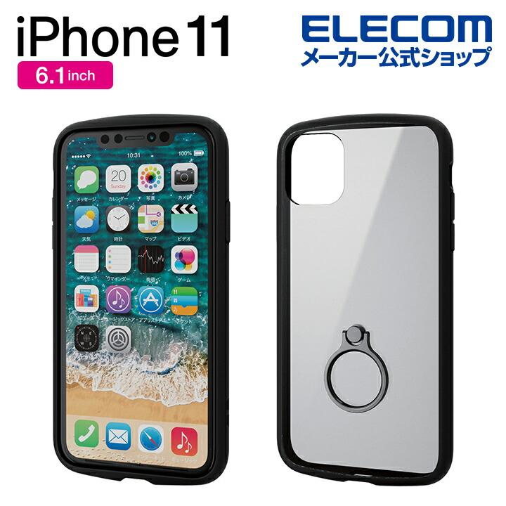 iPhone 11用TOUGH SLIM LITE/フレームカラー/リング付:PM-A19CTSLFCRBK