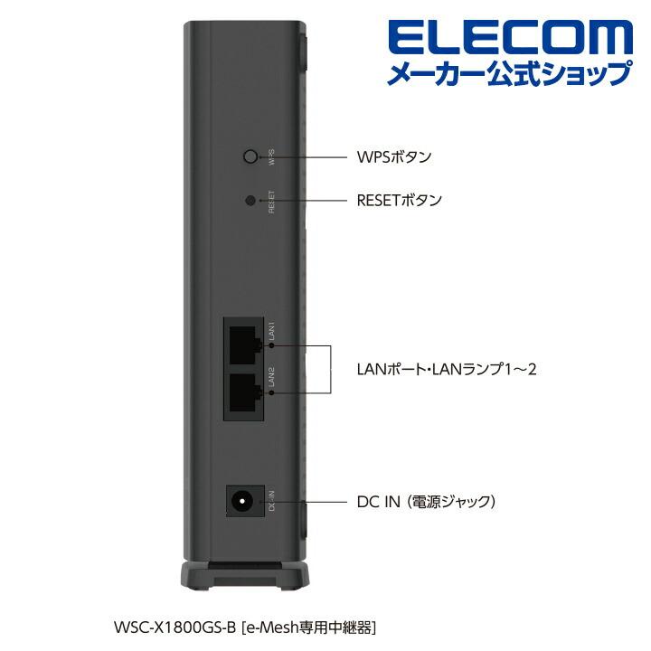 Wi-Fi 6 1201+574Mbps e-Mesh中継器