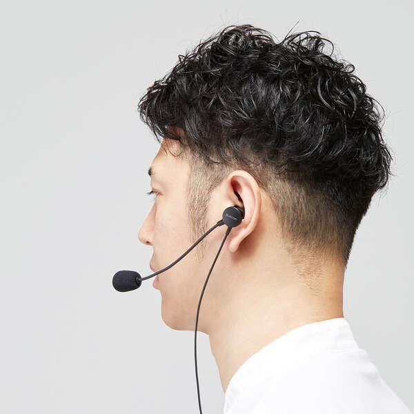 片耳耳栓タイプUSBヘッドセット