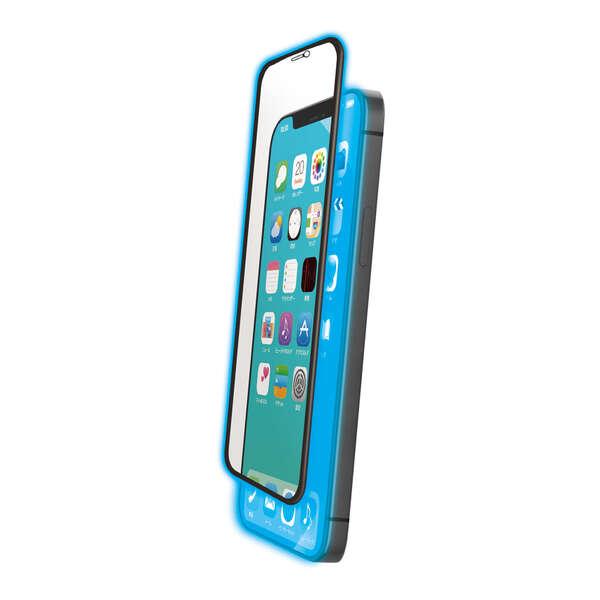 iPhone 12 mini ガラスフィルム ストロング フレーム付き ブルーライトカット