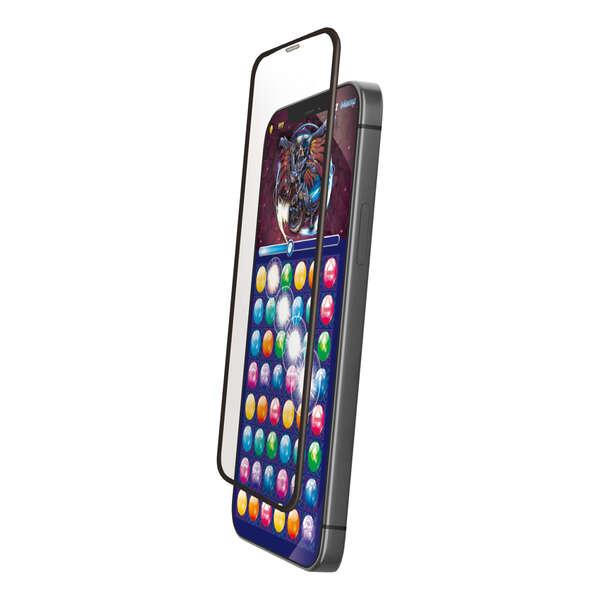 iPhone 12 mini ガラスフィルム フレーム付き ゲーム用