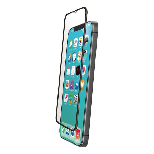 iPhone 12 mini ガラスフィルム ストロング フレーム付き 反射防止