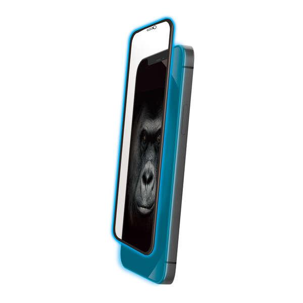 iPhone 12/12 Pro ガラスフィルム ゴリラ フレーム付き ブルーライトカット