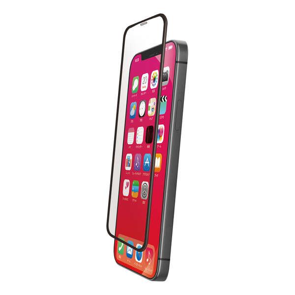iPhone 12/12 Pro ガラスフィルム ストロング フレーム付き 反射防止