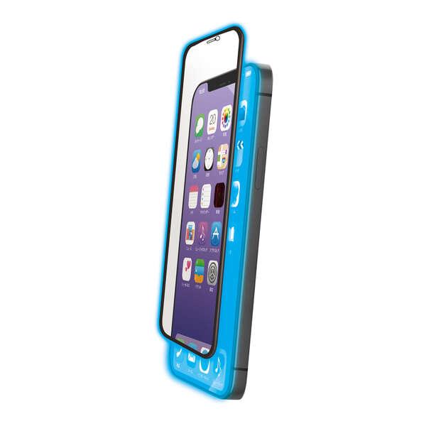 iPhone 12 Pro Max ガラスフィルム ストロング フレーム付き ブルーライトカット