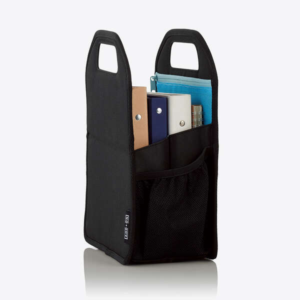 バッグインバッグ ボックス型 Sサイズ ブラック
