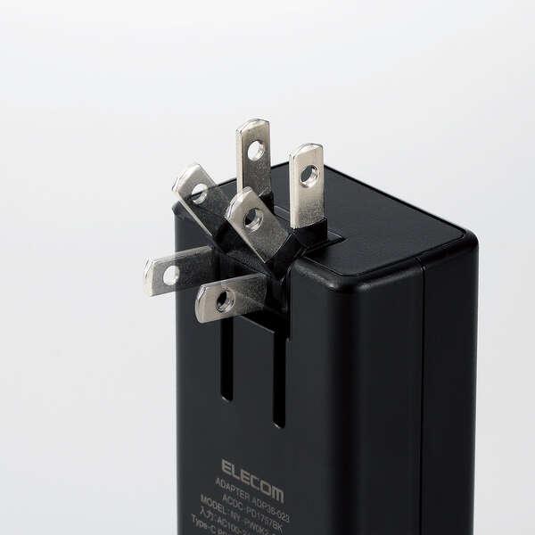 USB PD対応 AC充電器(USB PD45W・QC + 12W/C×1+A×1)