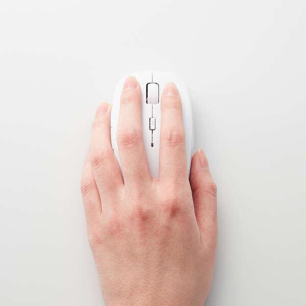 抗菌ワイヤレスBlueLEDマウス (5ボタン)