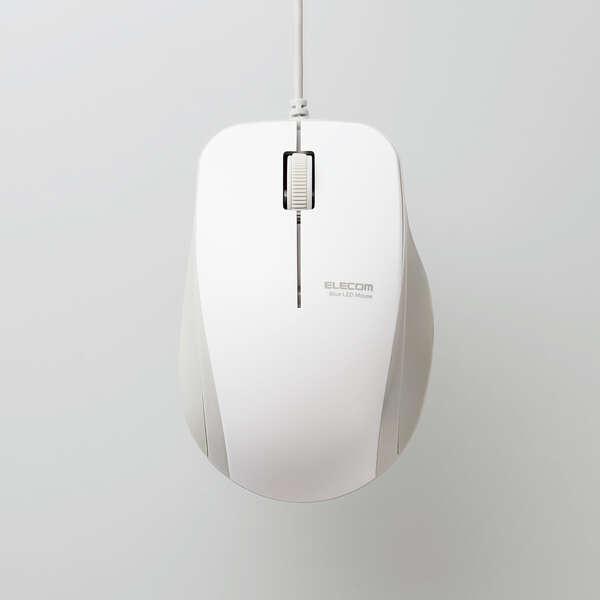 抗菌 有線 静音 BlueLEDマウス (3ボタン)