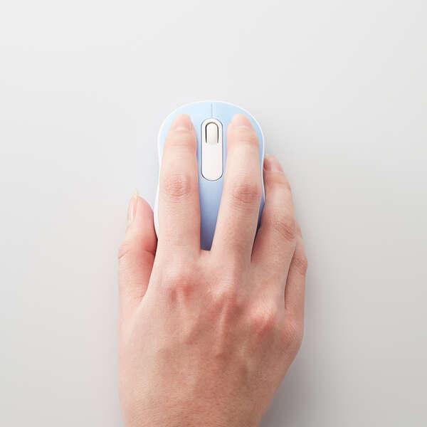 抗菌 ワイヤレス静音光学式マウス (3ボタン/Sサイズ)