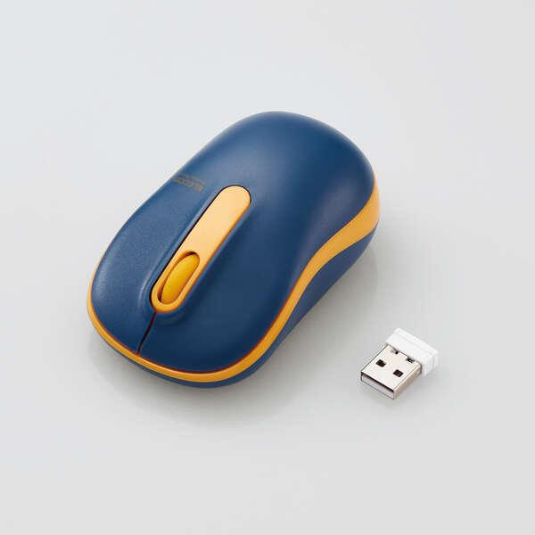 抗菌 ワイヤレス静音光学式マウス (3ボタン/Mサイズ)