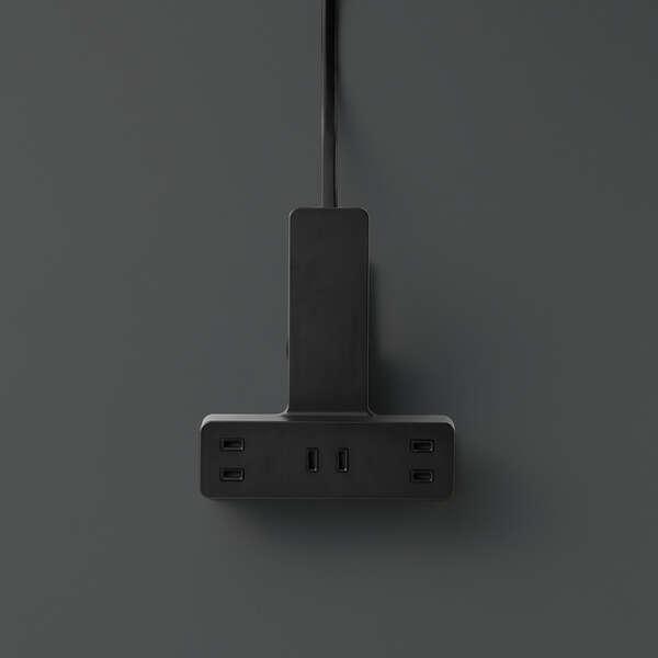 シャッター雷ガード付クリップタップ5.0m