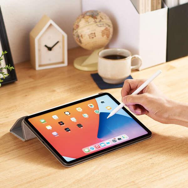 iPad Pro 11inch第3世代/超薄型/ソフトレザー/スリープ対応/Pencil収納