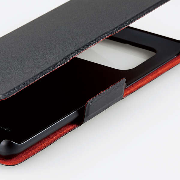 AQUOS R6 ソフトレザーケース UltraSlim 磁石付き 手帳型