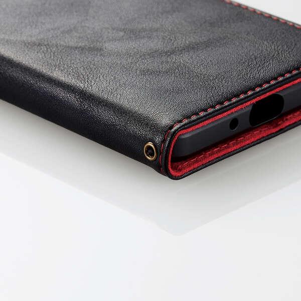Xperia 1 III ソフトレザーケース ステッチ 磁石付き 手帳型
