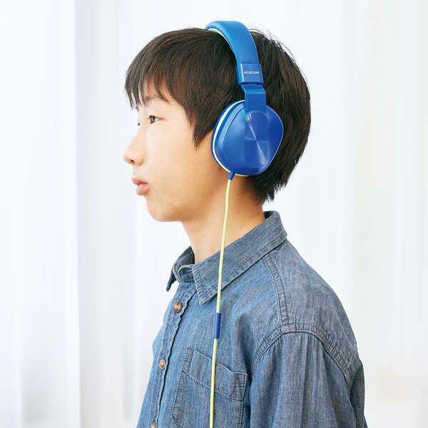 子ども用ヘッドセット 有線 4極 両耳 折りたたみ マイク付