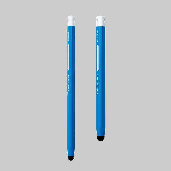 三角型タッチペン(太) 青色