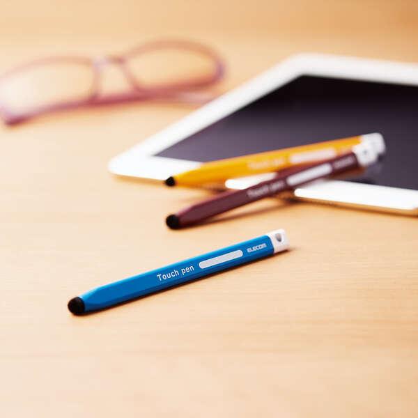 三角型タッチペン(太) 黄色