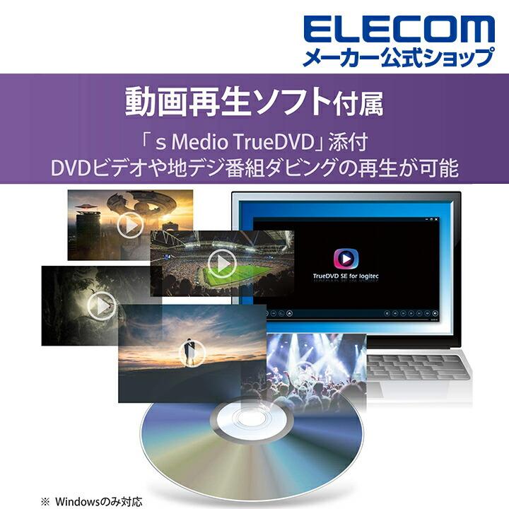 USB2.0 ポータブルDVDドライブ オールインワンモデル