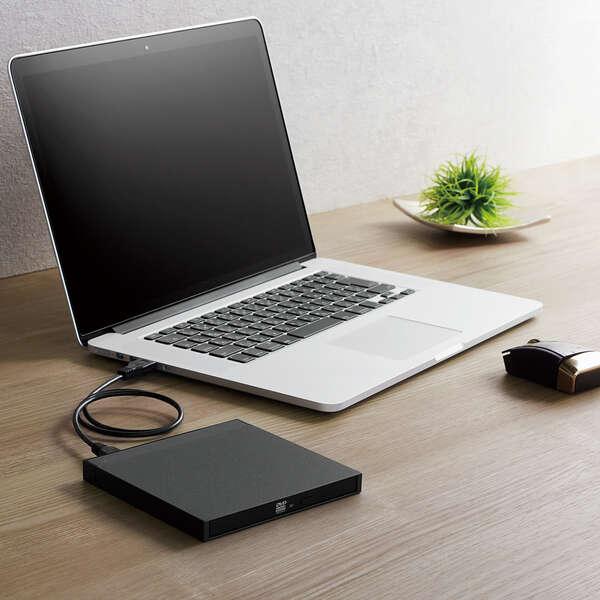 USB3.2 NativeポータブルDVDドライブ ブラック