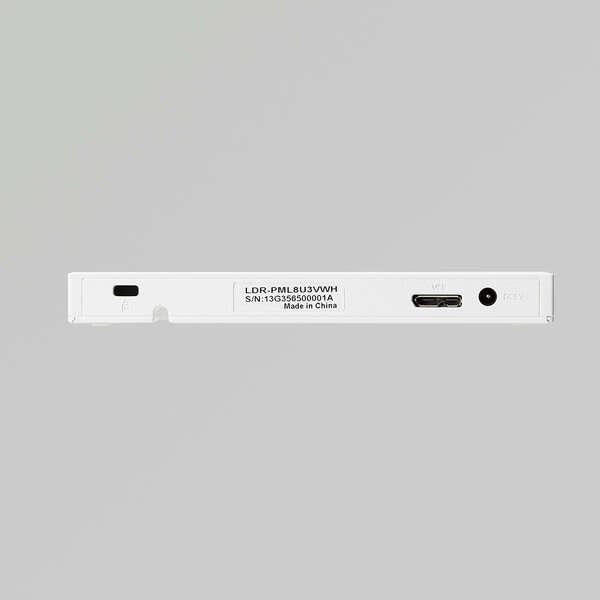 USB3.2 NativeポータブルDVDドライブ ホワイト