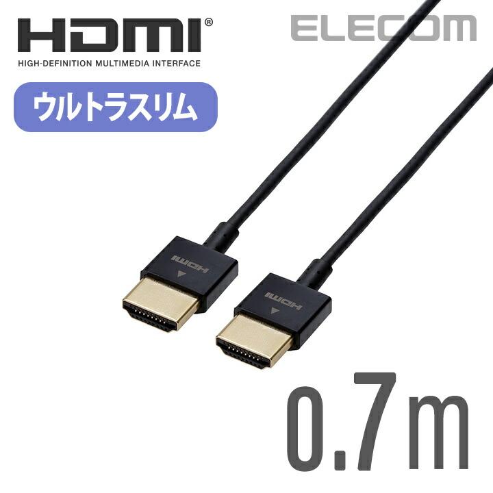 HIGH SPEED HDMIケーブル(ウルトラスリム):CAC-HD14US07BK