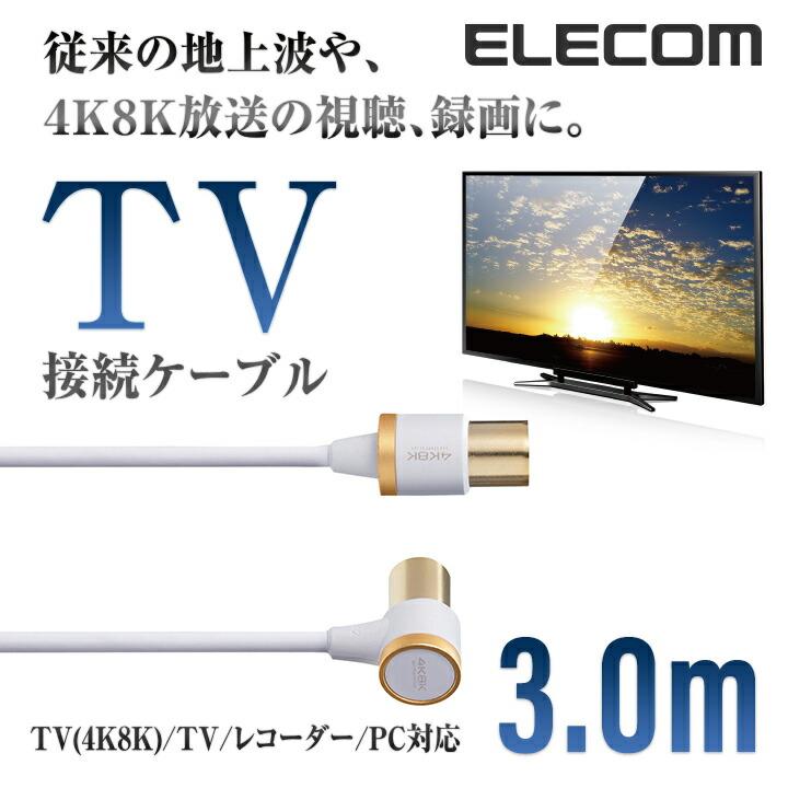 4K8K対応TV用アンテナケーブル:DH-ATLS48K30WH