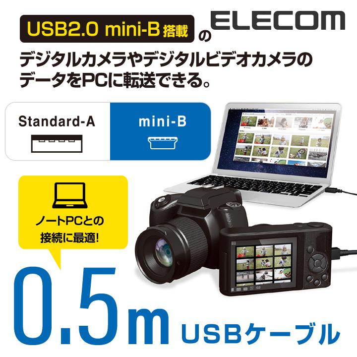 カメラ接続用USBケーブル(mini-Bタイプ):DGW-MF05BK