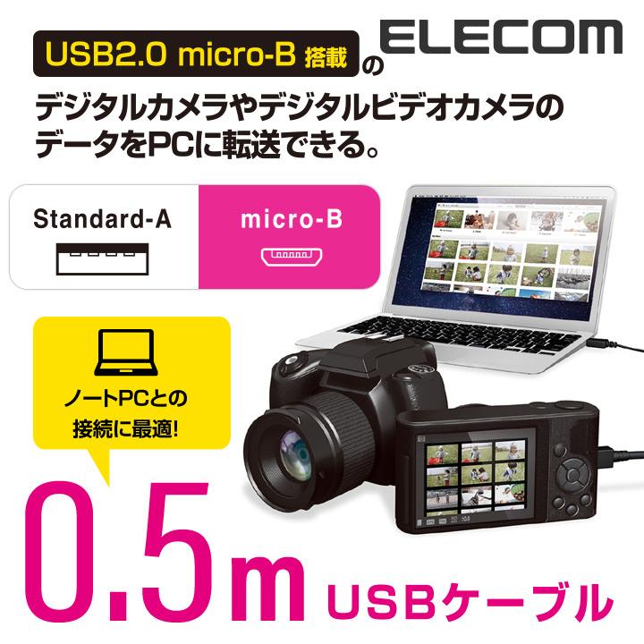 カメラ接続用USBケーブル(micro-Bタイプ):DGW-AMBF05BK