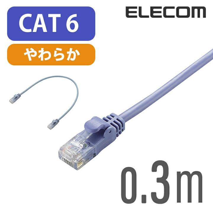 Gigabit やわらかLANケーブル(Cat6準拠):LD-GPY/BU03